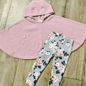 Old Navy & Carter's Poncho & Leggings Outfit